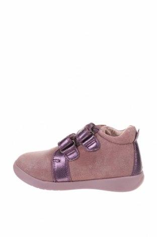 Детски обувки Garvalin, Размер 24, Цвят Лилав, Естествена кожа, естествен велур, Цена 33,60лв.