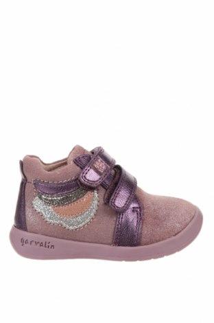 Детски обувки Garvalin, Размер 20, Цвят Лилав, Естествена кожа, естествен велур, Цена 33,60лв.