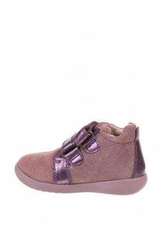Детски обувки Garvalin, Размер 22, Цвят Лилав, Естествена кожа, естествен велур, Цена 33,60лв.
