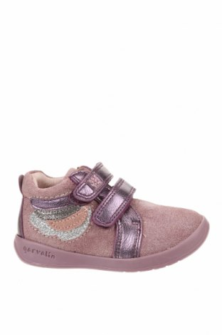 Детски обувки Garvalin, Размер 21, Цвят Лилав, Естествена кожа, естествен велур, Цена 33,60лв.