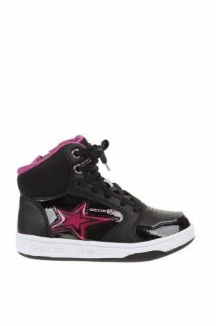 Детски обувки Geox, Размер 26, Цвят Черен, Еко кожа, текстил, Цена 64,97лв.