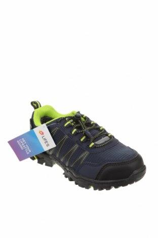 Детски обувки Lotto, Размер 33, Цвят Син, Текстил, еко кожа, Цена 38,27лв.