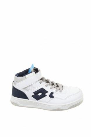 Детски обувки Lotto, Размер 31, Цвят Бял, Еко кожа, текстил, Цена 31,15лв.