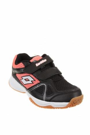 Детски обувки Lotto, Размер 33, Цвят Черен, Еко кожа, текстил, Цена 29,37лв.
