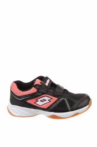 Детски обувки Lotto, Размер 35, Цвят Черен, Еко кожа, текстил, Цена 29,37лв.