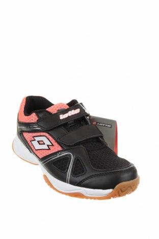Детски обувки Lotto, Размер 35, Цвят Черен, Еко кожа, текстил, Цена 35,60лв.