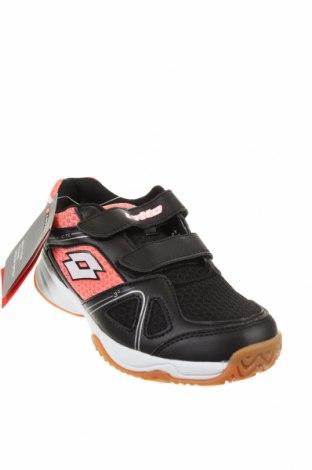 Детски обувки Lotto, Размер 34, Цвят Черен, Еко кожа, текстил, Цена 35,60лв.