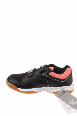 Детски обувки Lotto, Размер 34, Цвят Черен, Еко кожа, текстил, Цена 29,37лв.