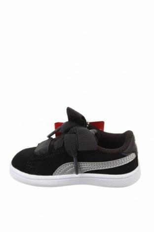 Детски обувки PUMA, Размер 21, Цвят Черен, Естествен велур, Цена 74,25лв.