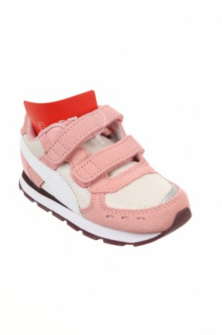 Детски обувки PUMA, Размер 23, Цвят Розов, Естествен велур, естествена кожа, текстил, Цена 74,25лв.
