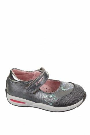 Детски обувки Pablosky, Размер 20, Цвят Сив, Естествена кожа, Цена 66,75лв.