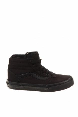 Детски обувки Vans, Размер 32, Цвят Черен, Текстил, естествена кожа, Цена 44,55лв.