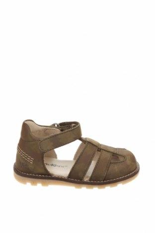 Детски сандали Kickers, Размер 21, Цвят Зелен, Естествена кожа, Цена 16,15лв.