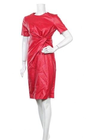 Кожена рокля Sandro Ferrone, Размер M, Цвят Червен, Еко кожа, Цена 103,95лв.