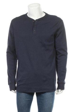 Мъжка блуза Croft & Barrow, Размер L, Цвят Син, 60% памук, 40% полиестер, Цена 17,85лв.