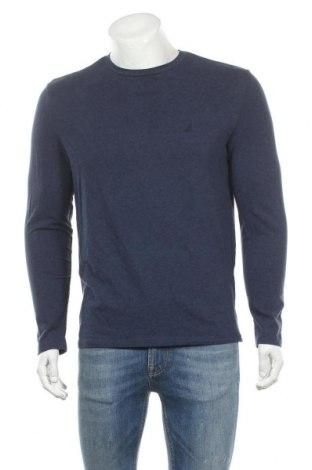 Ανδρική μπλούζα Nautica, Μέγεθος M, Χρώμα Μπλέ, 95% βαμβάκι, 5% ελαστάνη, Τιμή 18,84€