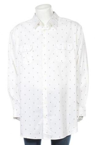 Мъжка риза, Размер XXL, Цвят Бял, Памук, Цена 13,44лв.