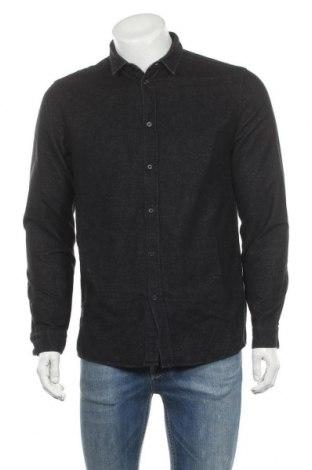Мъжка риза COS, Размер M, Цвят Черен, Памук, Цена 33,60лв.