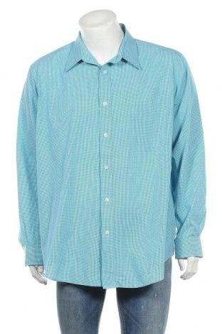 Мъжка риза Croft & Barrow, Размер XXL, Цвят Син, 60% памук, 40% полиестер, Цена 19,95лв.