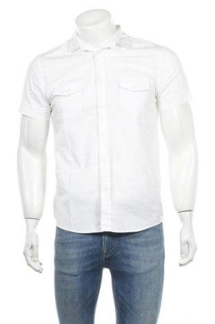Мъжка риза Gaudi, Размер M, Цвят Бял, 97% памук, 3% еластан, Цена 27,75лв.