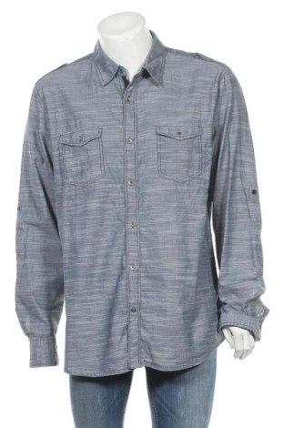 Ανδρικό πουκάμισο Guess, Μέγεθος XXL, Χρώμα Γκρί, Βαμβάκι, Τιμή 23,38€
