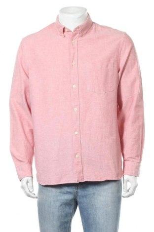 Мъжка риза H&M L.O.G.G., Размер L, Цвят Розов, Памук, Цена 11,81лв.