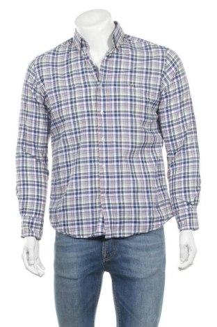 Ανδρικό πουκάμισο Lacoste, Μέγεθος M, Χρώμα Πολύχρωμο, 94% βαμβάκι, 6% λινό, Τιμή 22,27€