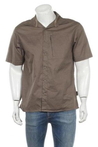 Ανδρικό πουκάμισο Quechua, Μέγεθος L, Χρώμα Καφέ, Βαμβάκι, Τιμή 11,04€