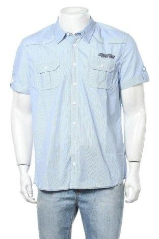 Ανδρικό πουκάμισο Sublevel, Μέγεθος L, Χρώμα Μπλέ, 65% πολυεστέρας, 35% βαμβάκι, Τιμή 8,83€