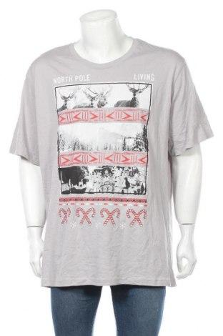 Мъжка тениска, Размер 3XL, Цвят Сив, Памук, Цена 27,30лв.