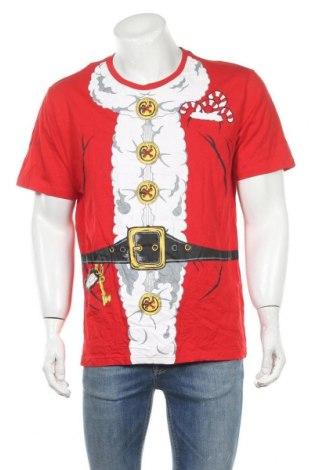 Мъжка тениска, Размер XL, Цвят Червен, Памук, Цена 15,75лв.