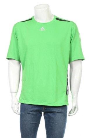 Ανδρικό t-shirt Adidas, Μέγεθος XL, Χρώμα Πράσινο, 100% πολυεστέρας, Τιμή 10,91€