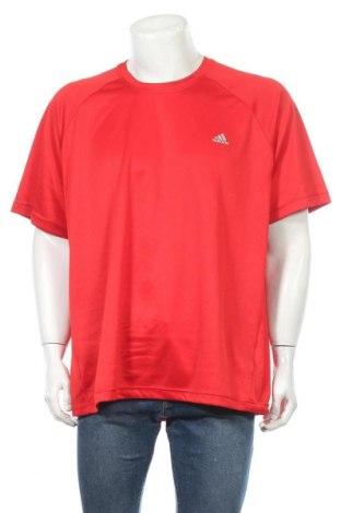 Ανδρικό t-shirt Adidas, Μέγεθος XXL, Χρώμα Κόκκινο, Πολυεστέρας, Τιμή 10,72€