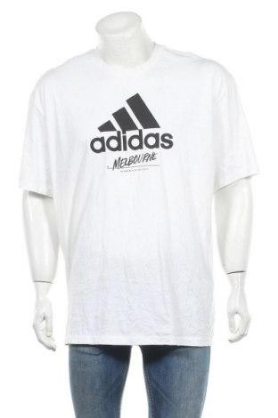 Мъжка тениска Adidas, Размер XL, Цвят Бял, 100% памук, Цена 18,11лв.