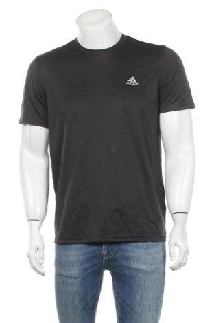 Ανδρικό t-shirt Adidas, Μέγεθος M, Χρώμα Μαύρο, Πολυεστέρας, Τιμή 20,78€
