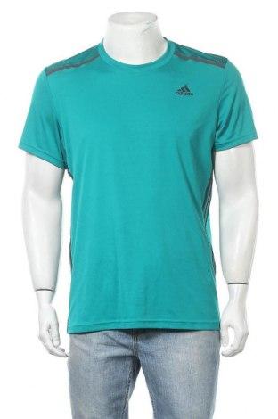 Ανδρικό t-shirt Adidas, Μέγεθος L, Χρώμα Πράσινο, Τιμή 12,86€