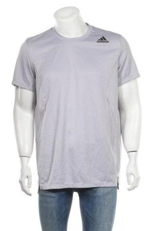 Ανδρικό t-shirt Adidas, Μέγεθος XL, Χρώμα Γκρί, Πολυεστέρας, Τιμή 13,51€