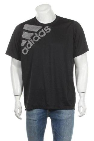 Ανδρικό t-shirt Adidas, Μέγεθος XL, Χρώμα Μαύρο, Πολυεστέρας, Τιμή 18,77€