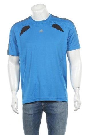 Ανδρικό t-shirt Adidas, Μέγεθος L, Χρώμα Μπλέ, Πολυεστέρας, Τιμή 13,64€