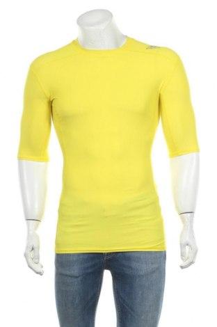Ανδρικό t-shirt Adidas, Μέγεθος L, Χρώμα Κίτρινο, 76% πολυεστέρας, 24% ελαστάνη, Τιμή 20,78€
