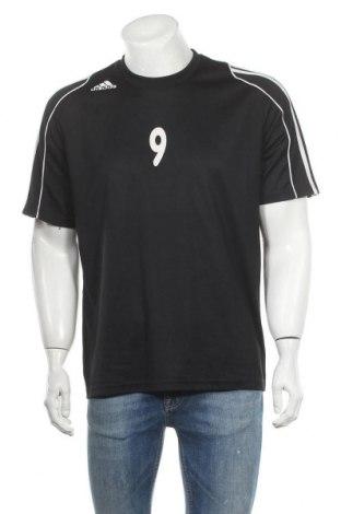 Ανδρικό t-shirt Adidas, Μέγεθος M, Χρώμα Μαύρο, Πολυεστέρας, Τιμή 8,18€