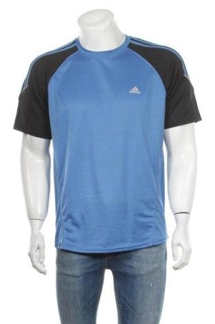 Ανδρικό t-shirt Adidas, Μέγεθος L, Χρώμα Μπλέ, Πολυεστέρας, Τιμή 8,77€