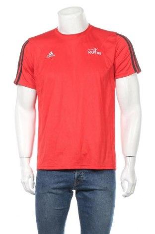 Ανδρικό t-shirt Adidas, Μέγεθος M, Χρώμα Κόκκινο, Πολυεστέρας, Τιμή 8,83€