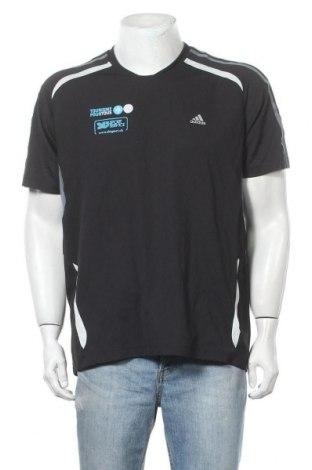 Ανδρικό t-shirt Adidas, Μέγεθος L, Χρώμα Μαύρο, Πολυεστέρας, Τιμή 6,82€