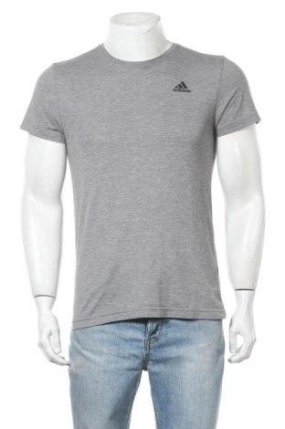 Ανδρικό t-shirt Adidas, Μέγεθος M, Χρώμα Γκρί, 65% πολυεστέρας, 35% βισκόζη, Τιμή 12,86€