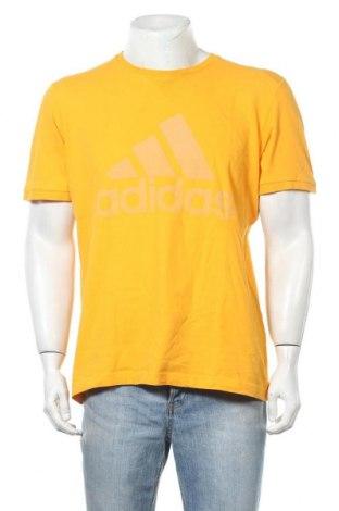 Ανδρικό t-shirt Adidas, Μέγεθος L, Χρώμα Κίτρινο, Τιμή 13,51€