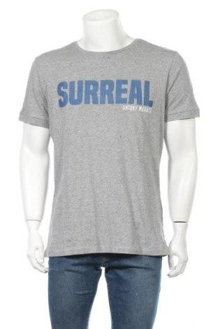 Мъжка тениска Antony Morato, Размер M, Цвят Сив, 90% памук, 10% коприна, Цена 34,10лв.