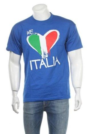 Ανδρικό t-shirt B&C Collection, Μέγεθος L, Χρώμα Μπλέ, Βαμβάκι, Τιμή 8,31€