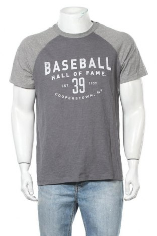 Ανδρικό t-shirt Champion, Μέγεθος L, Χρώμα Γκρί, 60% βαμβάκι, 40% πολυεστέρας, Τιμή 17,66€