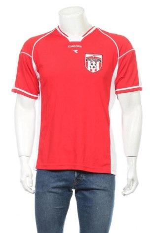 Ανδρικό t-shirt Diadora, Μέγεθος M, Χρώμα Κόκκινο, 100% πολυεστέρας, Τιμή 3,41€